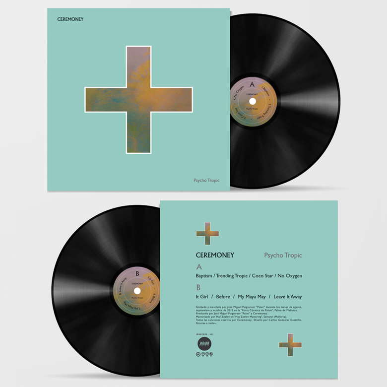 "Image of CEREMONEY - PSYCHO TROPIC  ( Black Vinyl/LP - 12"") 180gr."