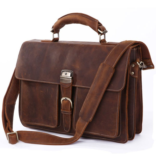 6da0269e62e5 Men s Handmade Vintage Leather Briefcase   Messenger   14