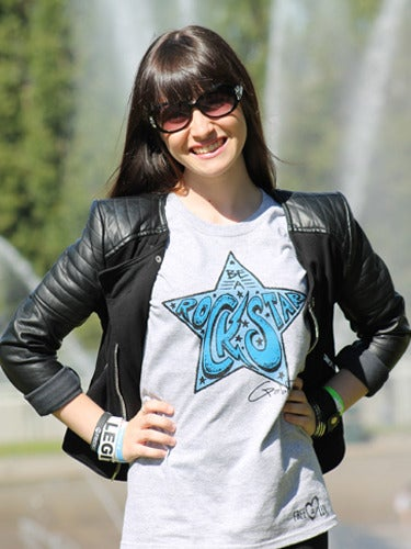 Image of GREY Gabbie Rae Rock Star Tee