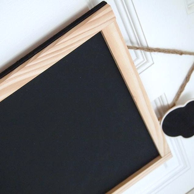 Image of Medium Chalkboard with Natural Brown Frame