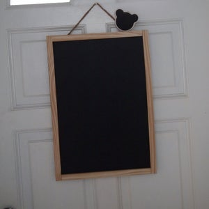 Medium Chalkboard with Natural Brown Frame