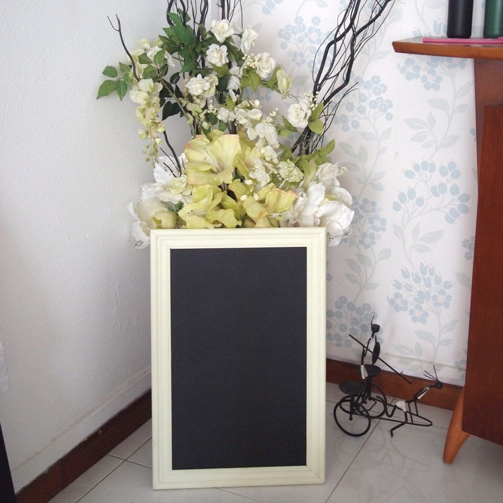 Chalkboard with Cream Green Frame