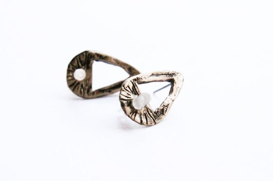 Image of Hallowed Ground Teardrop Earrings