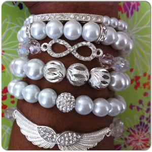 Image of Angel Wings bracelet set