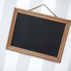 Medium Size Chalkboard with Natural Brown Frame