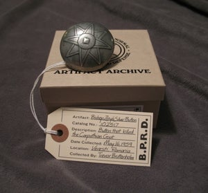 Image of Hellboy/B.P.R.D: *SIGNED* Bishop Zrinyi's Silver Button! - TEMPORARILY SOLD OUT