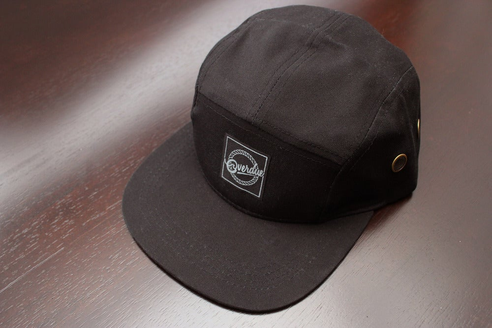 Image of Overdue - 5 Panel Hat (Black)