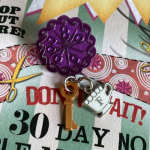 Image of Twins' Rustic House Key Pin