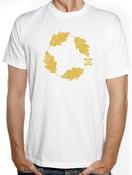 "Image of T-Shirt ""Leaves"" Bianca"