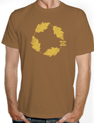 """Image of T-Shirt """"Leaves"""" Marrone"""