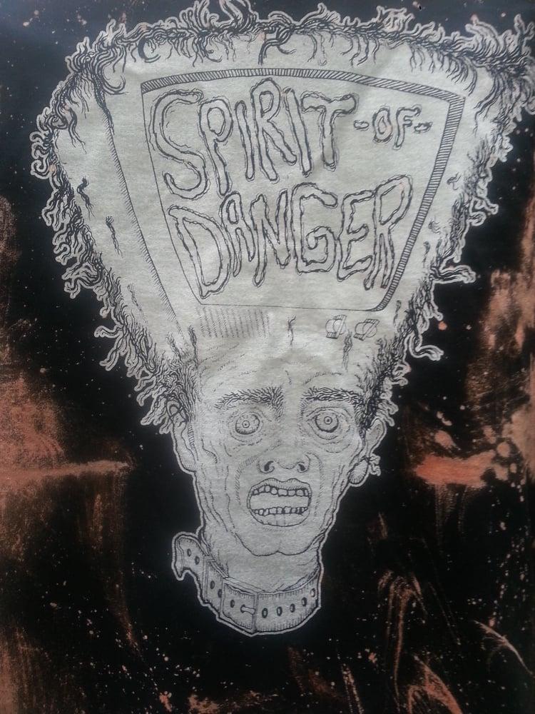 Image of Spirit of Danger T.V Head Bleach Splatter T-Shirt