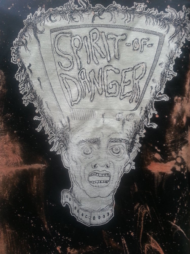 Image of Spirit of Danger T.V Head Bleach Splatter T-Shirt