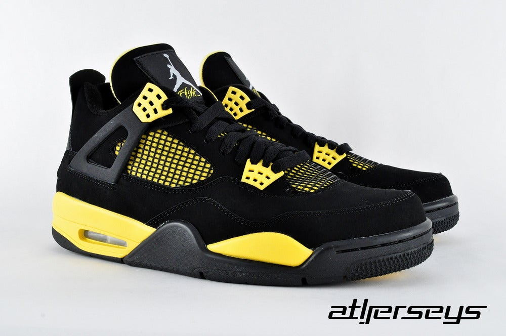 outlet store 165b7 1dd9f ... Image of AIR JORDAN 4 RETRO -308497-008 - THUNDER 4 ...