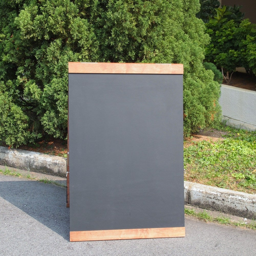 Large Double Sided Standing Chalkboard with Top and Bottom Border