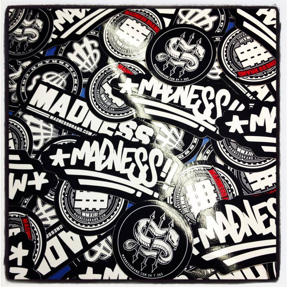 Image of Madness Brand Sticker Pack