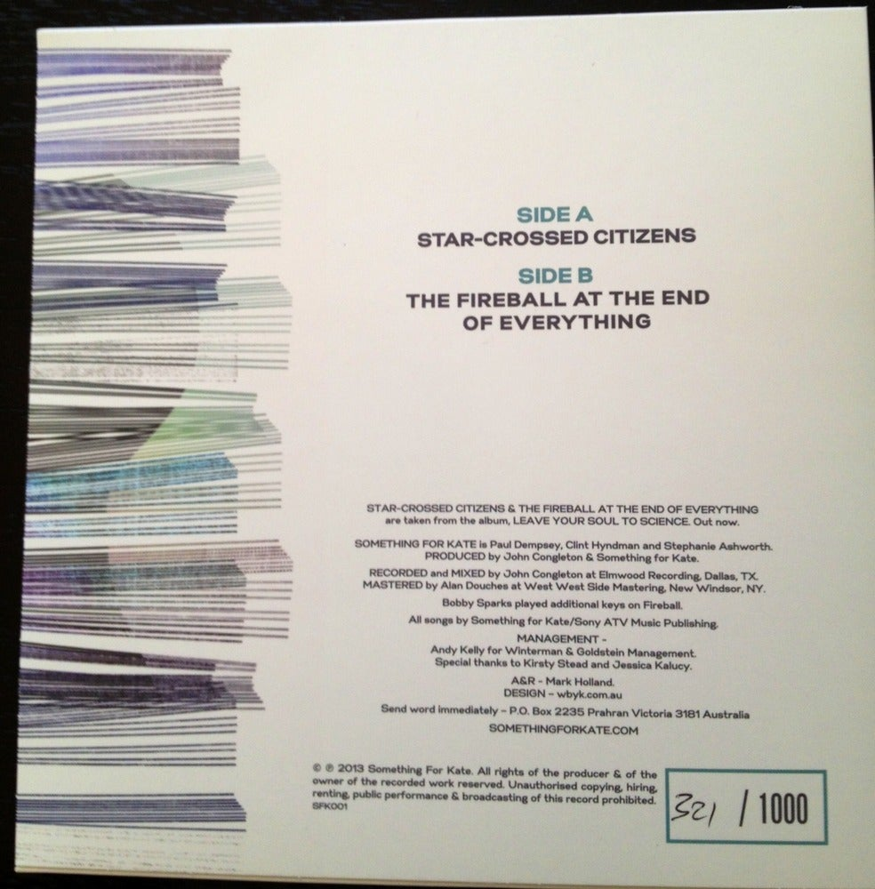 Image of Star-Crossed Citizens - Vinyl Single - Signed/or Unsigned