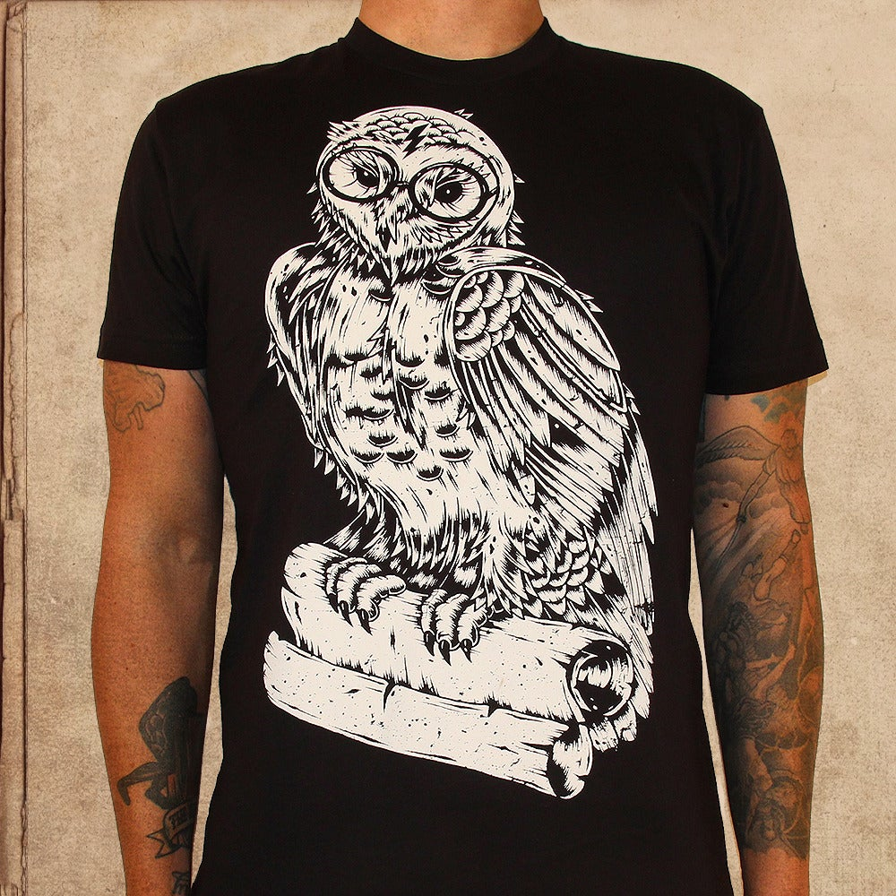 Image of Harry Potter Owl - discharge inks - unisex - final print XS/XL/2X left