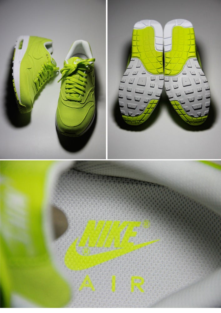 Image of Nike Air Max 1-Cyber/White DEADSTOCK UK10-MEGA SALE