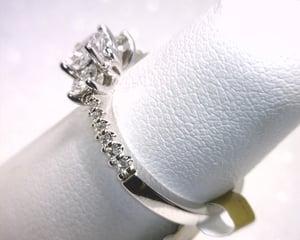 Image of 14K White Gold Diamond Engagement Ring (.47CT Round Center)