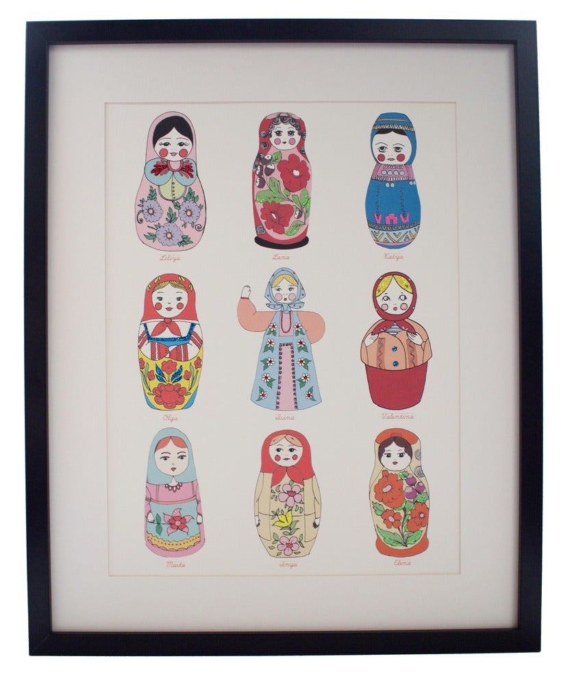 Limited Edition Hand Decorated Russian Doll Print