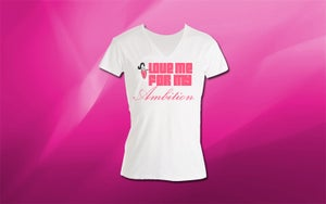 """Image of White Vneck  - """"Love Me For My Ambition"""" Chaos T-Shirt"""