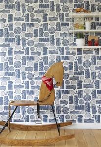 Image of Logpile wallpaper in woodsmoke