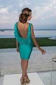 Image of Samantha Backless Ruffle Dress