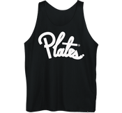 Image of Plate Practice Jersey (Cursive): White/ black