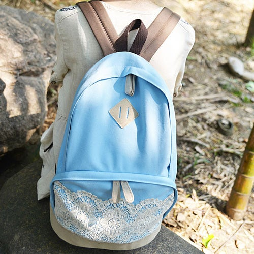 Image of Fresh Cute Lace Fashion Canvas Backpacks