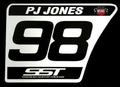 Image of #98 PJ Jones Number Plate