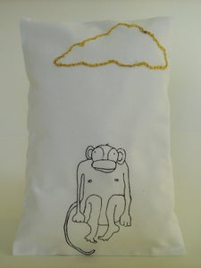 "Image of ""Monkey and goldcloud"" Pillow"