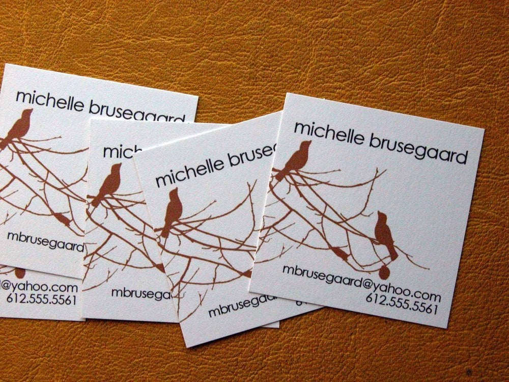 Image of Birds and Branches Calling Cards-Four Colorways available