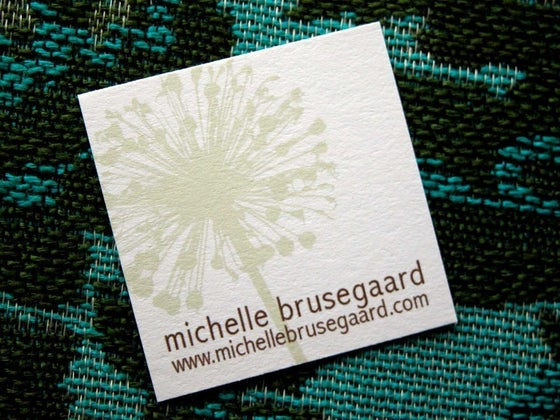 Image of Floral Calling Cards-two color ways available