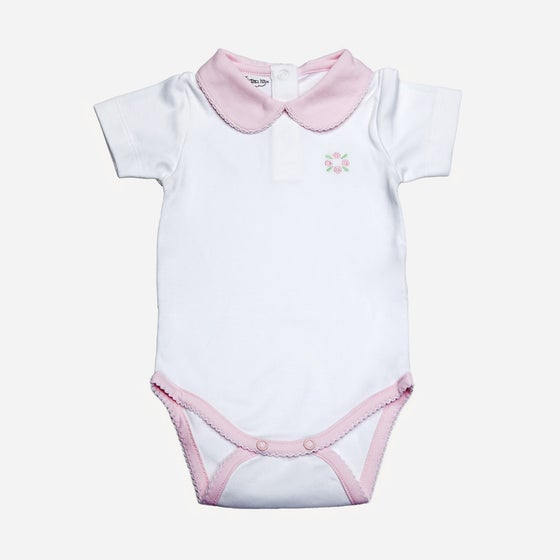 Image of Body Blanco con Cuello BB o Body Rosa con Cuello BB