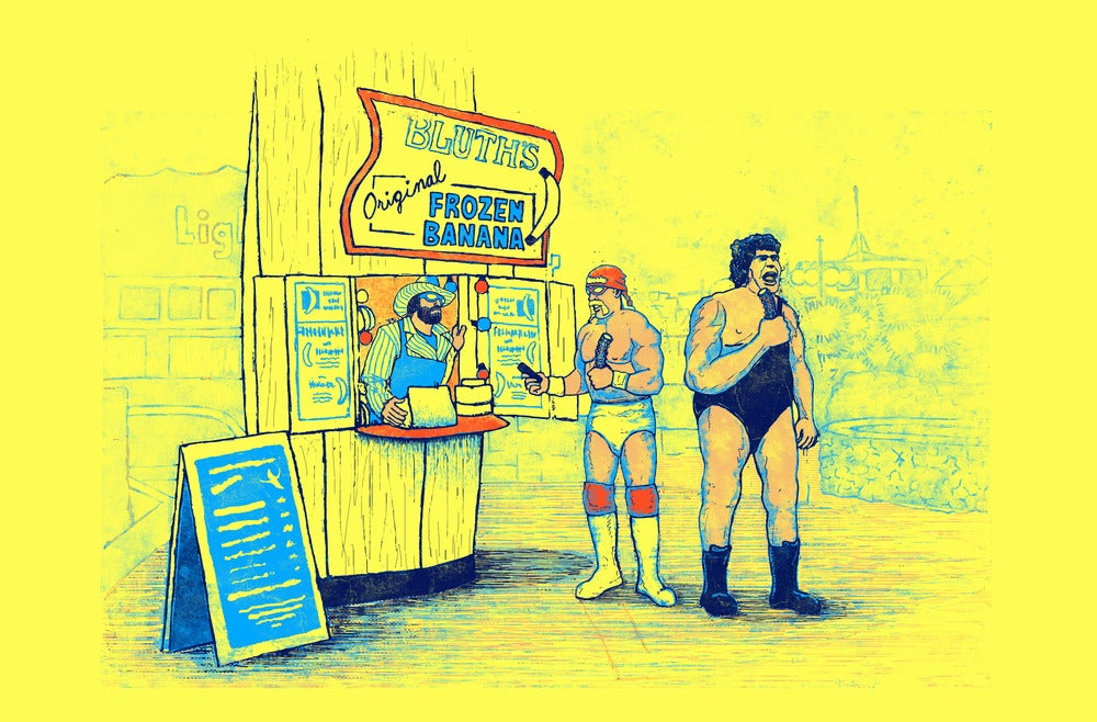 Image of There's Always Pro Wrestlers At The Banana Stand