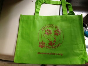 Image of Picasso's Place Min Pin Rescue Tote Bag