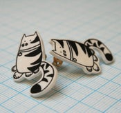 Image of humpfry cat earrings
