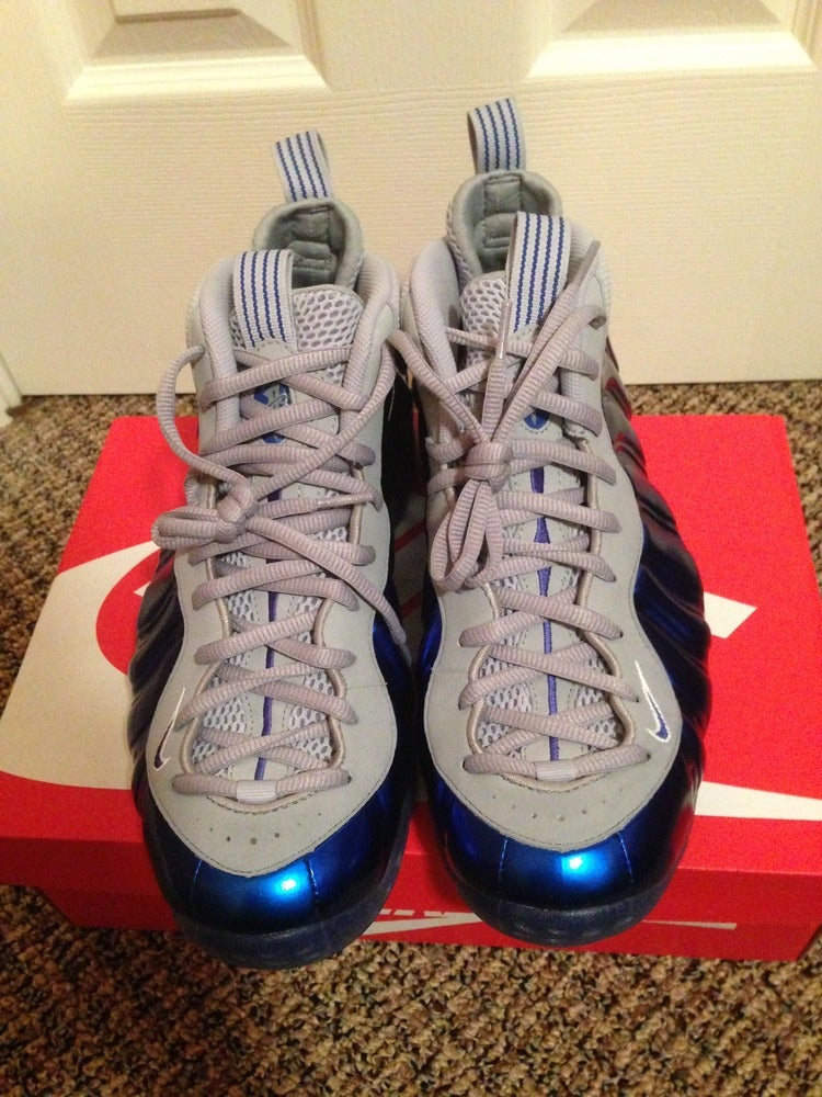 62f5c9d2008 ... Sole Collector  Image of Nike Air Foamposite One-Game Royal Sport Royal-Wolf  Grey ...