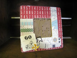 Image of Retro Inspired Frame 'Ticket Counter'