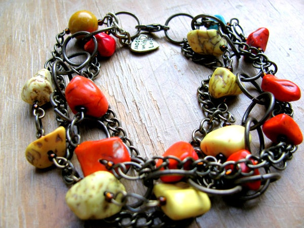 Image of Chains and Color Beads