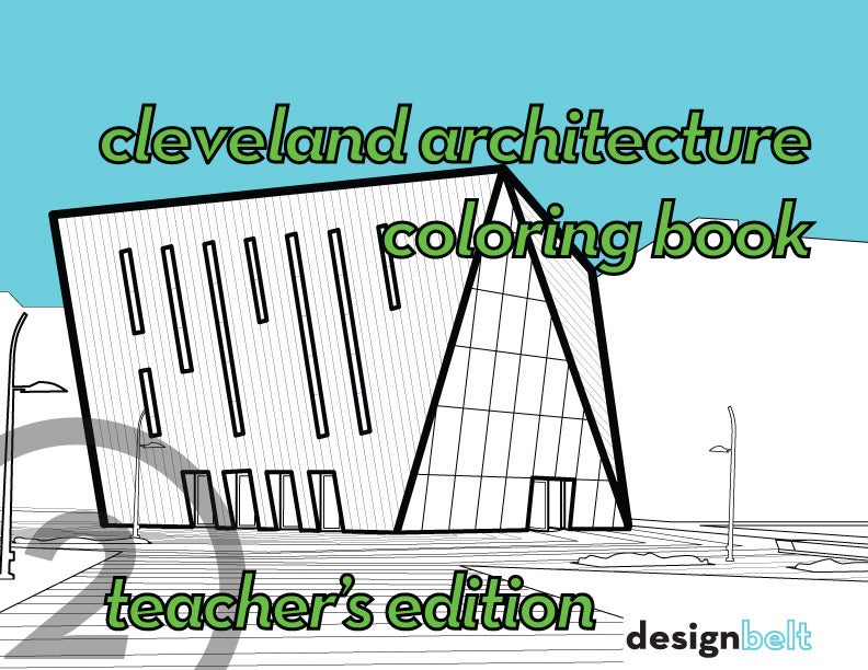 Image of Cleveland Architecture Coloring Book teacher's edition