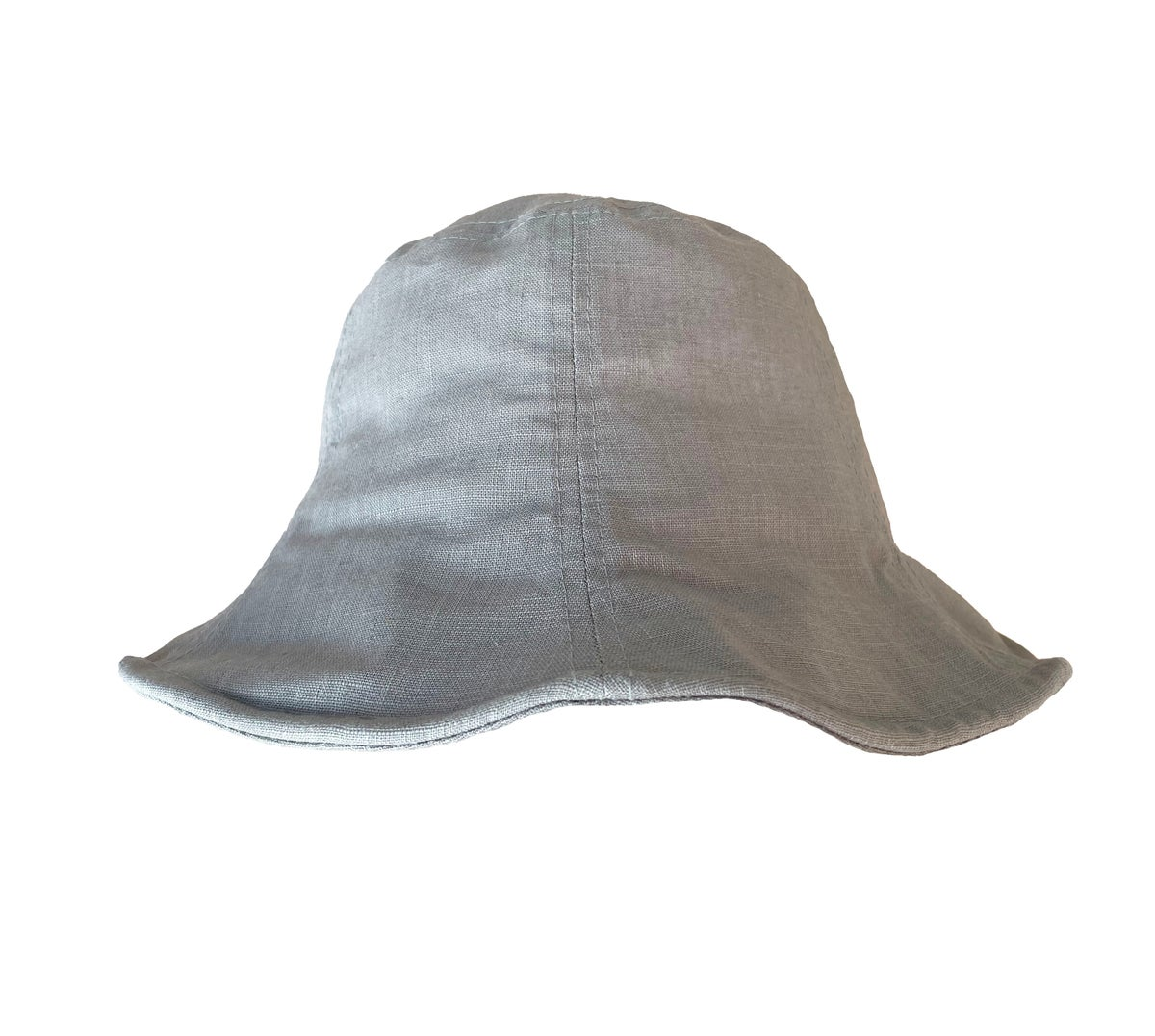 Image of Linen Sun Hat. Sage Green (was £22)