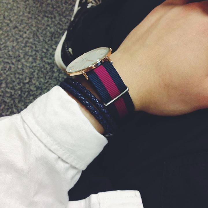 Image of Purple/Navy Nato Strap