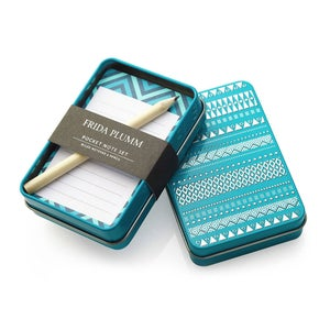 Image of Pocket Note Set (Petrol Blue)