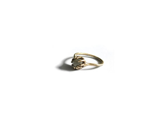 Image of 14k gold & 0.5 ct rough diamond ring size 4.5