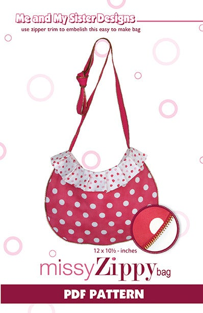 Image of Missy Zippy Bag PDF pattern