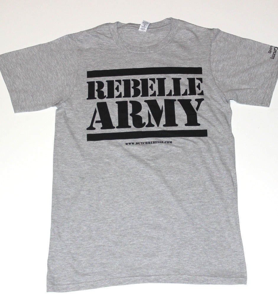 """Image of The """"ReBelle Army"""" T-Shirt (Gray)"""