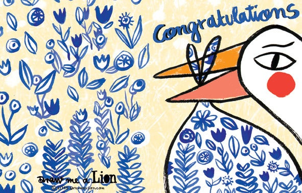 Image of Congratulations (Stork), Card
