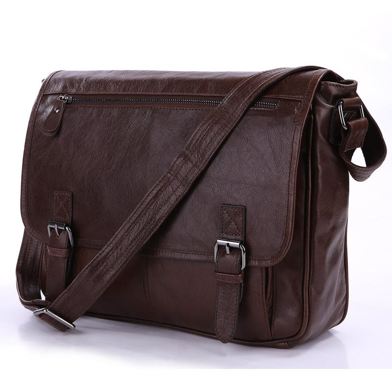 "Image of Handmade Vintage Leather Messenger Bag / Satchel / 12"" Laptop 11"" 13"" MacBook Bag (n84L)"