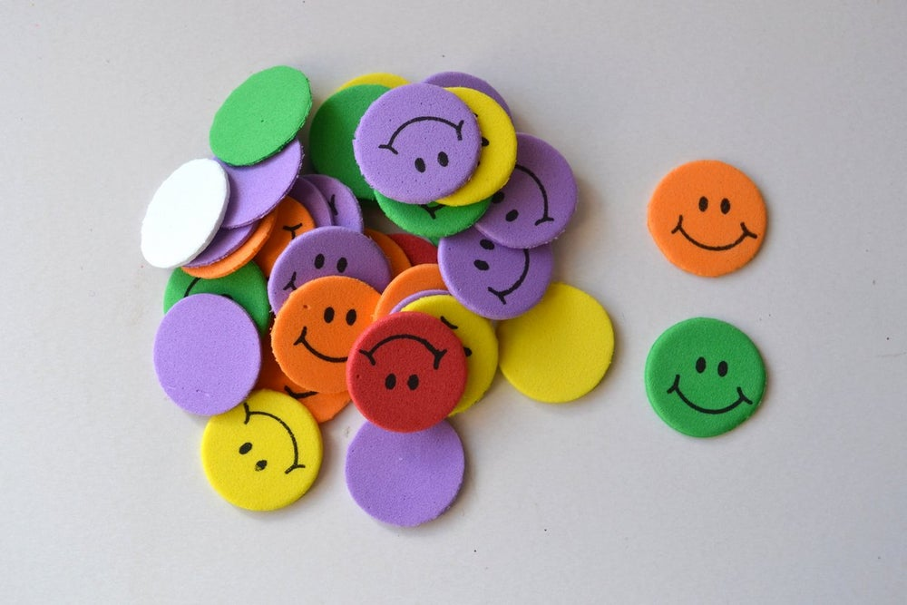 Image of Foam Shapes - Smiley Faces 8gms